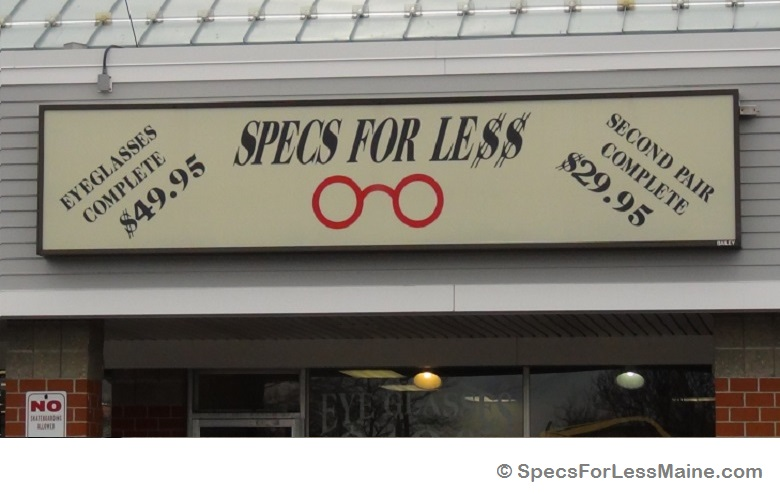 Store Sign - Specs For Less